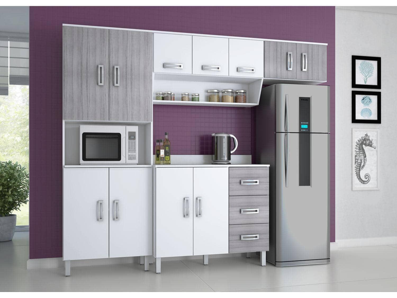 Cozinha Compacta Poliman M Veis Franciele 8 Portas Balc O Com