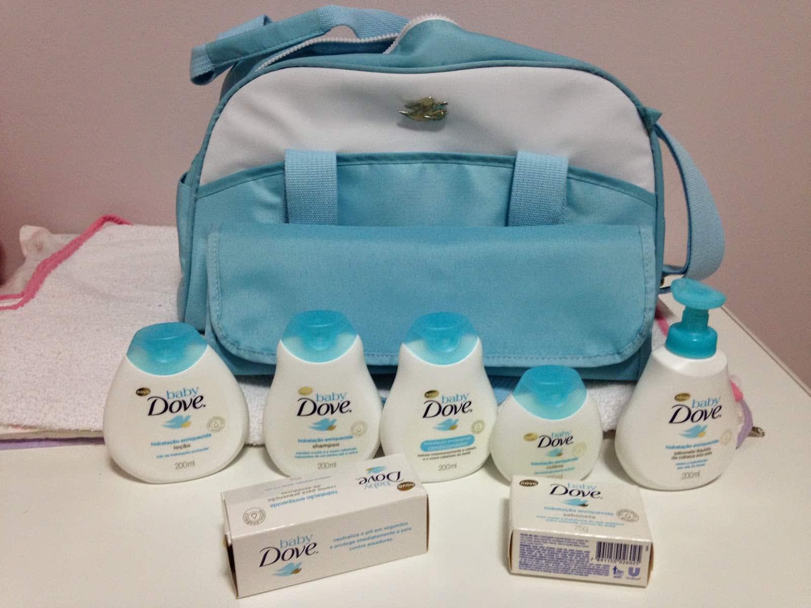 Kit De Higiene Para Beb 234 Baby Dove Com Trocador E Bolsa