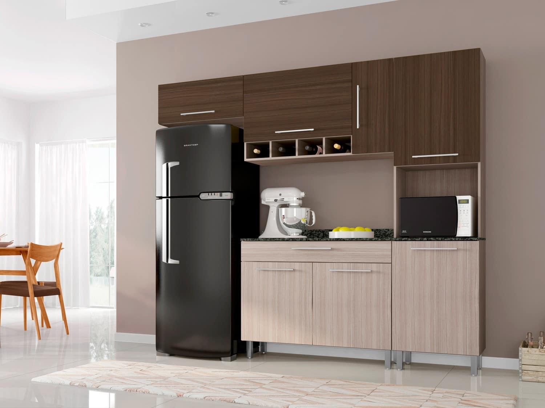 Cozinha Compacta Poliman M Veis Luna Com Balc O 7 Portas 1 Gaveta