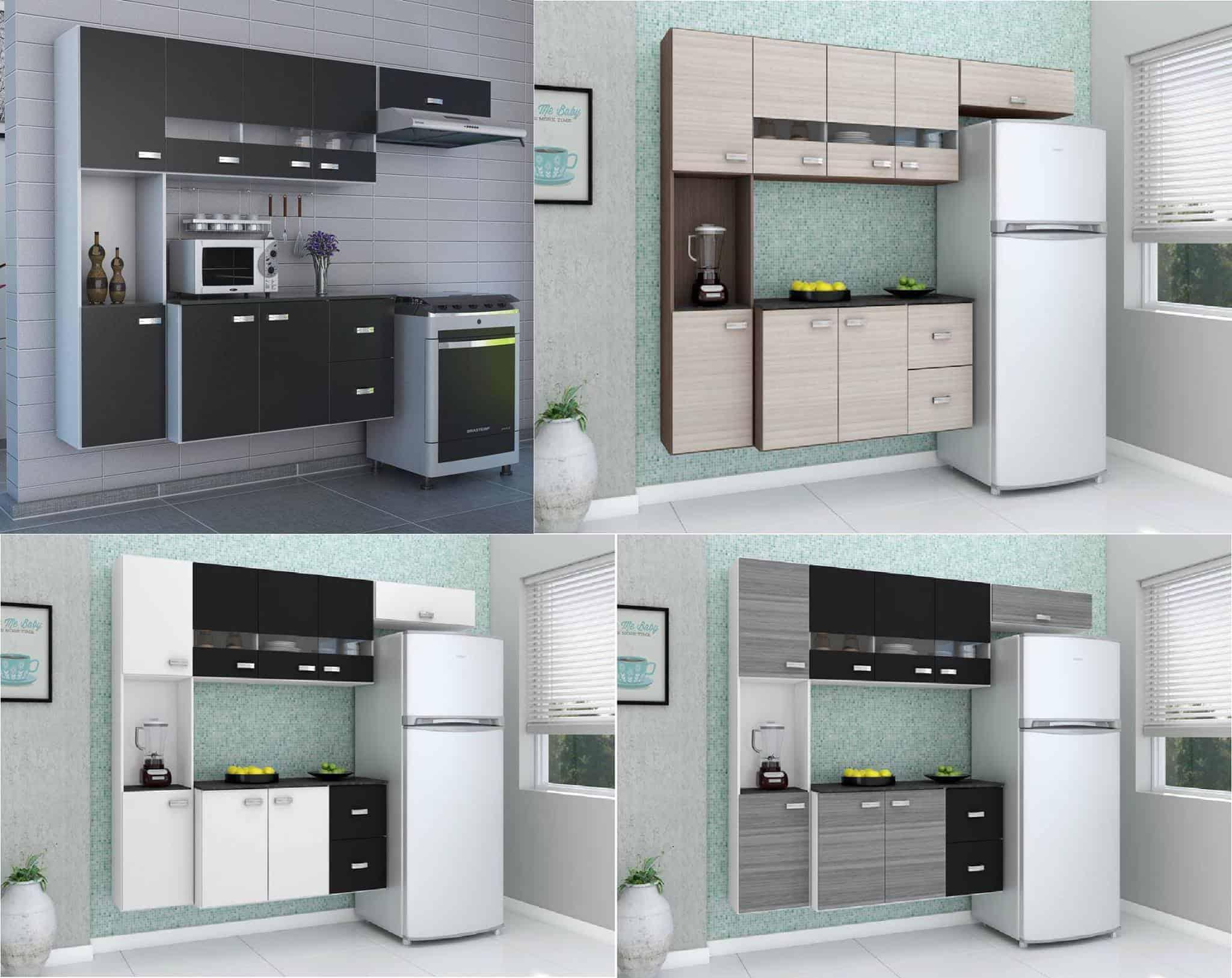 Cozinha Compacta Julia Composta Por 4 Pe As Com 2 Gavetas 8 Portas