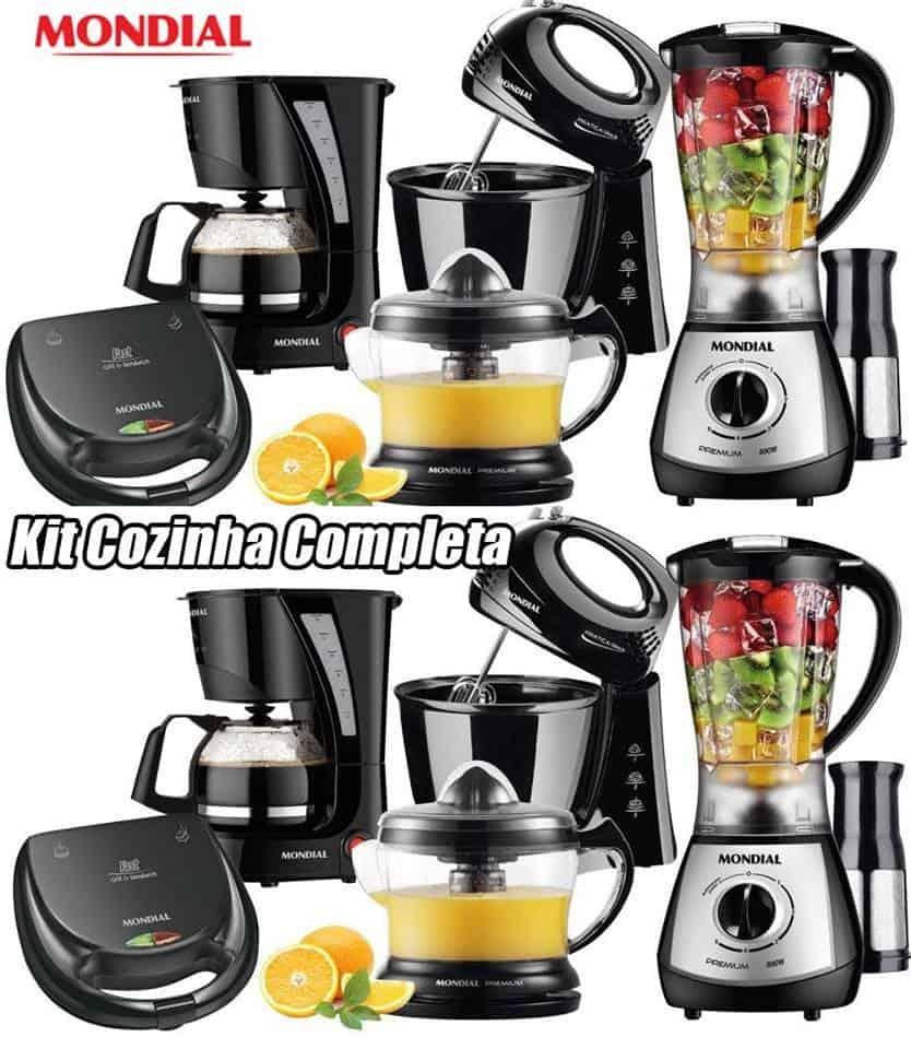 Kit Cozinha Completa Kt 76 Mondial Liquidificador Batedeira