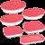 Conjunto de Assadeiras de Vidro com Tampa Marinex 6 Peças – Rosa