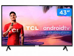 """Smart TV LED 43"""" TCL 43S6500 Full HD – Android Wi-Fi 2 HDMI 1 USB"""