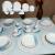 Aparelho de Jantar 20 Peças Porcelarte Cerâmica – Redondo Branco e Azul Prime 004/20