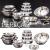 Conjunto de Pote 5 Peças Inox + Conjunto de Tigelas 5 Peças Inox + Escorredor de Arroz Inox 26cm – La Cuisine