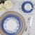 Aparelho de Jantar e Chá 20 Peças Casambiente – Porcelana Redondo Azul e Branco Isadora