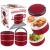 Marmita Lunch Box Vermelho – Euro Home