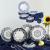 Aparelho de Jantar e Chá 30 Peças Oxford Daily Floreal Energy Branco/Azul