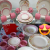 Aparelho de Jantar Chá 30 Peças Biona – Cerâmica Redondo Rosa Donna