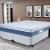 Cama Box Queen Size (Box + Colchão) ProDormir – Colchões Mola 34cm de Altura Sensitive Blue