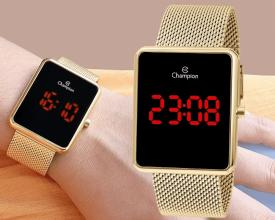 Relógio Feminino Champion Digital CH40080V – Dourado