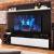 Estante Home para TV até 60 Polegadas Bianca Preto e Branco – Quiditá móveis