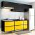 Cozinha Compacta C/ Tampo New York– Multimóveis. – Preto / Amarelo