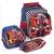 Kit Escolar Mochila Infantil com Rodinhas + Lancheira + Estojo Carro Swiss Move Team Wheels 3d Azul