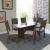 Conjunto De Sala De Jantar Fidelita Miami 150 CM Com 6 Cadeiras Noce Off-White Assento Linho