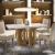 Conjunto Sala de Jantar 4 Cadeiras Firenze Premium Siena Móveis Castanho Fosco/Areia