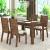 Mesa de Jantar 4 Cadeiras Retangular Viero Móveis – Cine