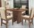 Conjunto Mesa Com 4 Cadeiras – Montreal – Dobuê Castanho/bege