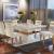 Conjunto Sala de Jantar 6 Cadeiras Dream Siena Moveis Veludo Creme/Off White/Imbuia