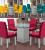 Conjunto de Mesa com 4 Cadeiras Vegas – Dobuê