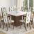 Mesa de Jantar 8 Cadeiras Quadrada Viero Móveis – Dexter