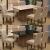 Conjunto de Mesa Para Sala de Jantar C/ Tampo de Vidro e 6 Cadeiras Florença