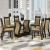 Conjunto De Mesa Para Sala De Jantar Dona Com Vidro 6 Cadeiras Nogueira/Areia