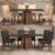 Conjunto de Mesa de Jantar com 6 Cadeiras Estofadas Amanda