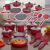 Jogo de Panelas Casambiente Revestimento Cerâmico – de Alumínio Vermelha 10 Peças Sevilla AL091
