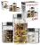 Conjunto de Potes com Tampa 3 Peças em Vidro Euro 9415003