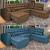 Sofa de Canto Retrátil e Reclinável com Molas Cama Inbox Platinum 3,34×2,36 Tecido Suede