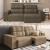 Sofá 4 Lugares Linoforte Versalhes com Assento Retrátil e Encosto Reclinável em Tecido Suede