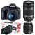 Kit Câmera DSLR Canon EOS Rebel T7 com Lentes EF-S 18-55mm IS II e EF-S 55-250mm f/4-5.6 IS II