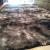 Tapete Sala Quarto Peludo Felpudo Cinza Mesclado Escuro Macio e Luxuoso 2,00 x 1,40 m