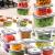 Jogo de Potes de Plástico Electrolux – com Tampa Quadrado 8 Peças