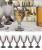 Jogo de Taças de Vidro 6 Peças 244ml – Casambiente Bico de Jaca