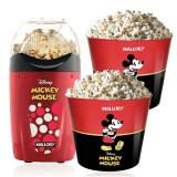 Pipoqueira Elétrica Disney Mickey Mallory + 2 Baldes Pipoca