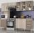 Cozinha Compacta com Balcão e Tampo Impressão Teka e Brown