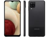 """Smartphone Samsung Galaxy A12 64GB Preto 4G – 4GB RAM Tela 6,5"""" Câm. Quadrupla + Selfie 8MP"""
